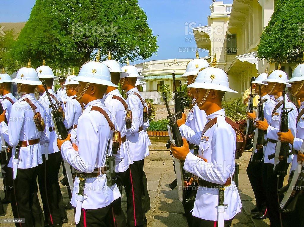 Bangkok, Thailand - June 30, 2008: Change of the guard stock photo