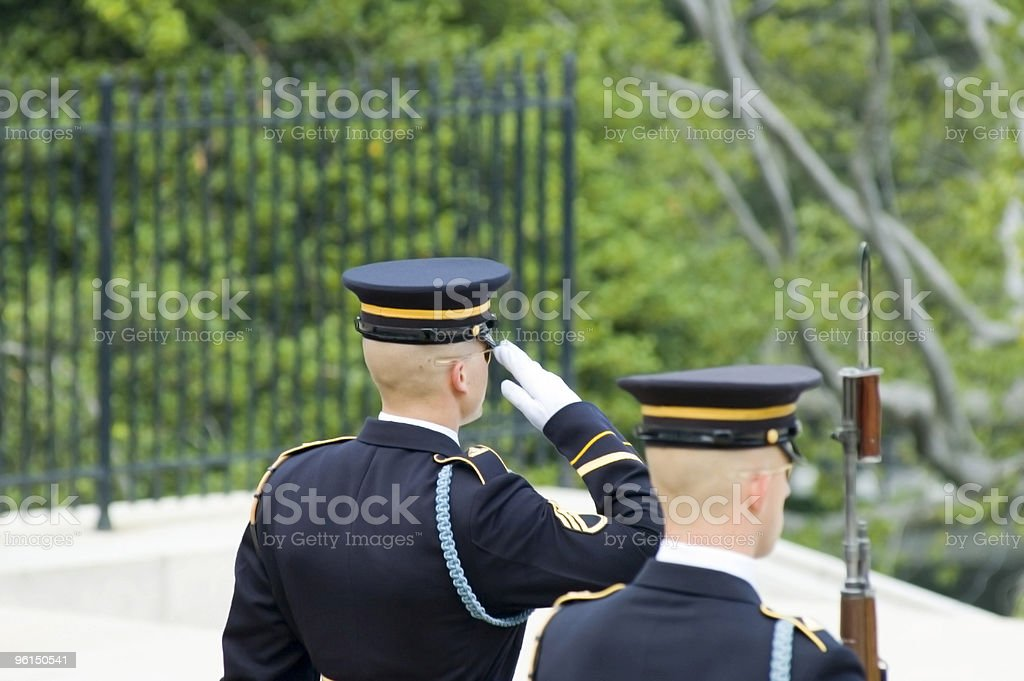 Change of the Guard royalty-free stock photo