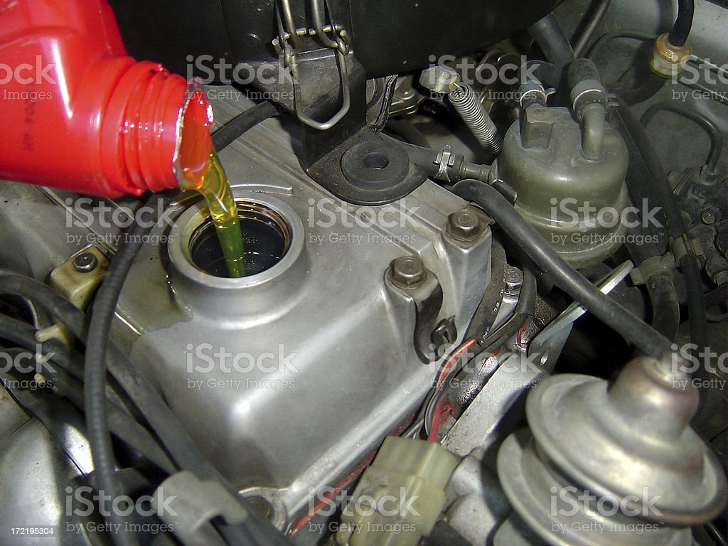 change oil royalty-free stock photo