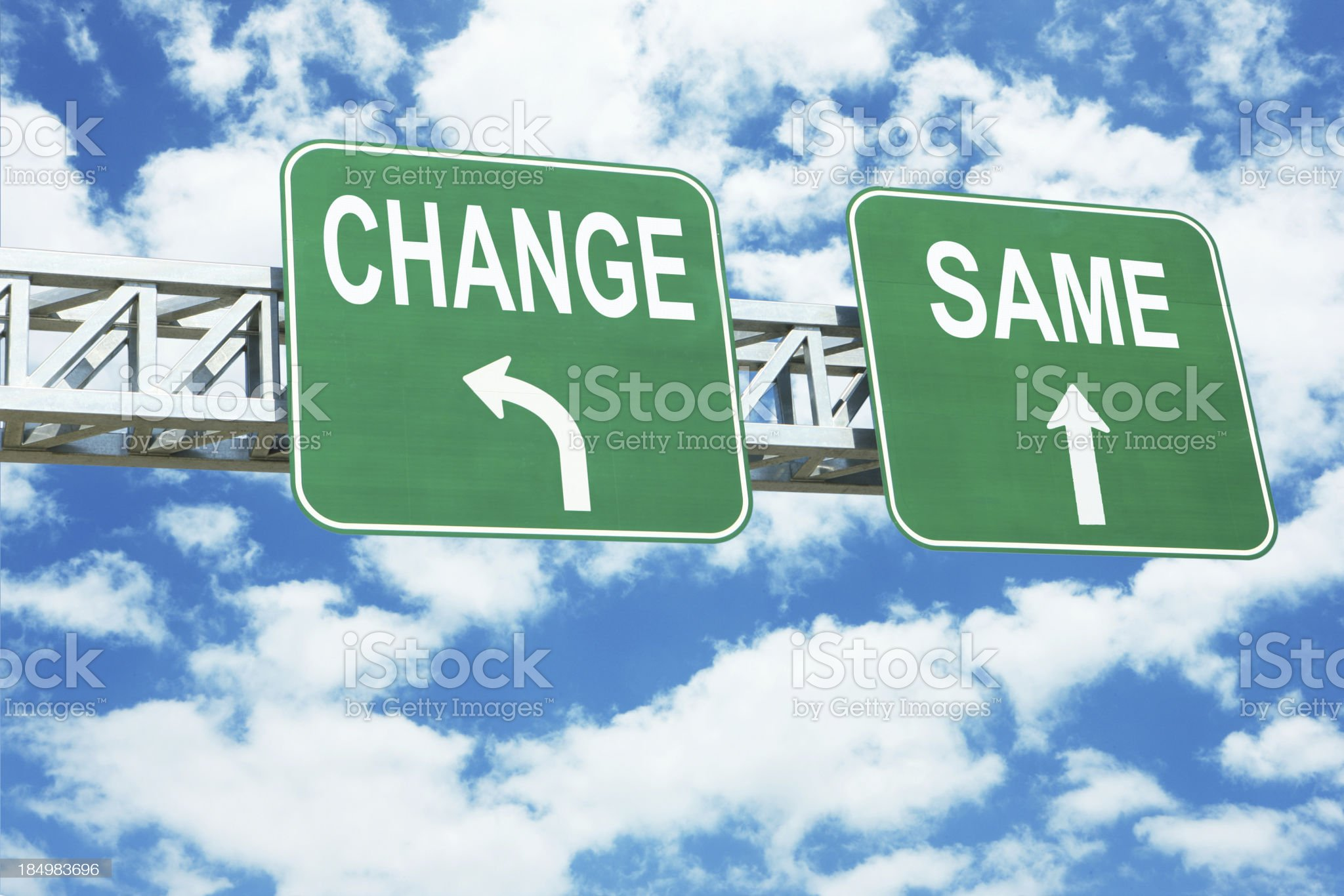 Change or Same royalty-free stock photo
