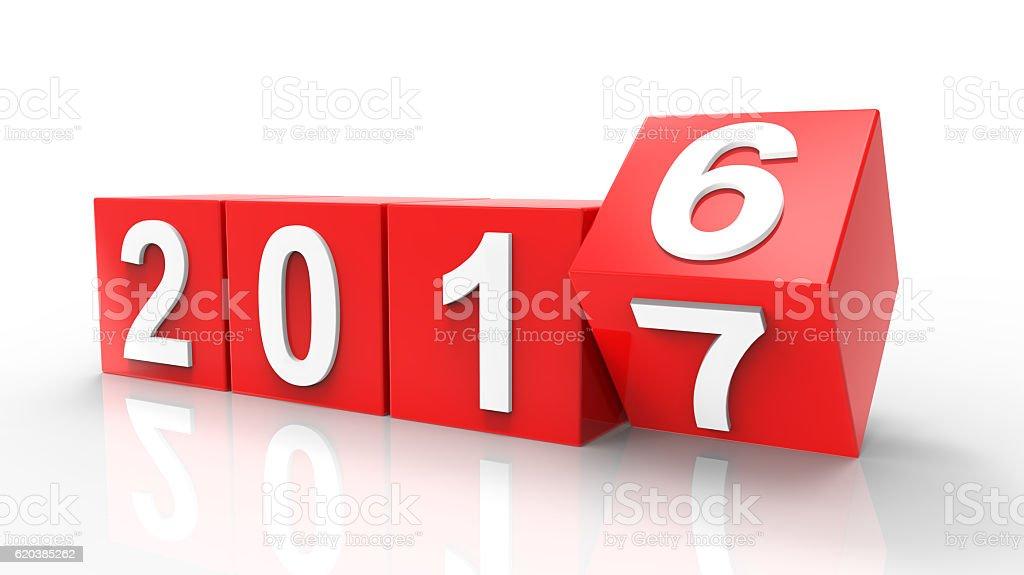 2016-2017 change stock photo