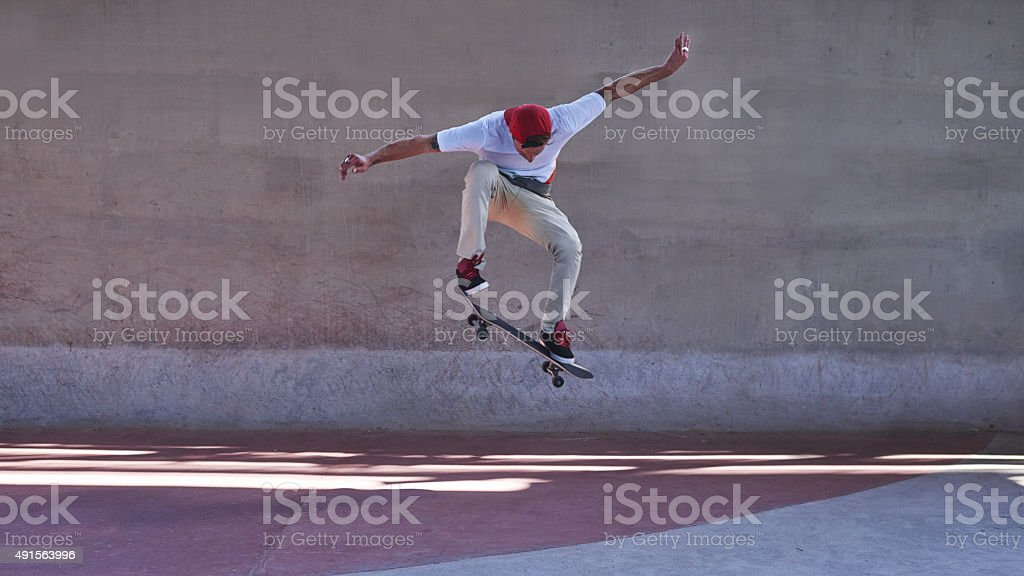 Change requires a leap of faith stock photo