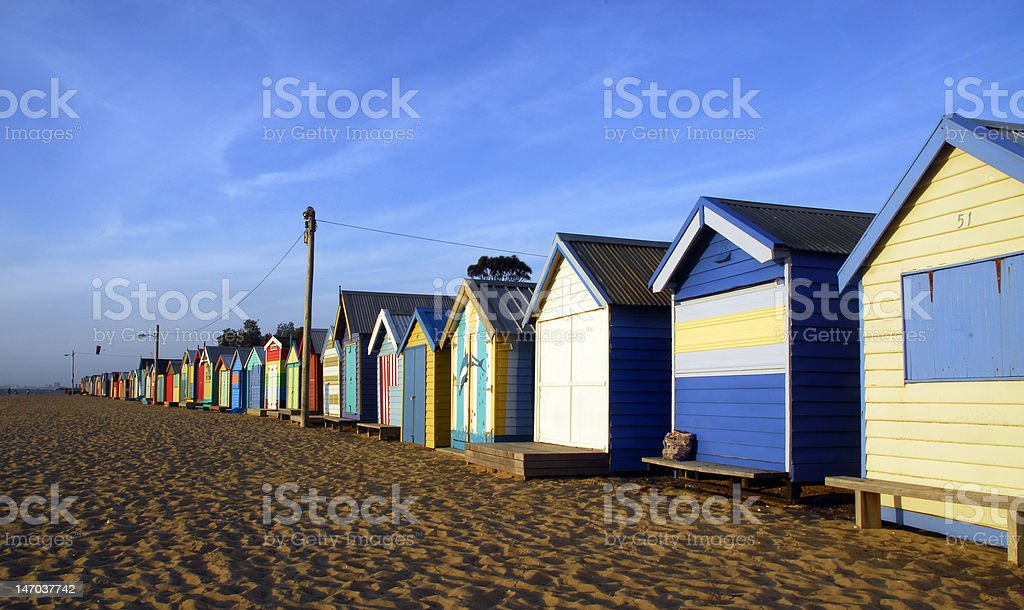change rooms in beach royalty-free stock photo