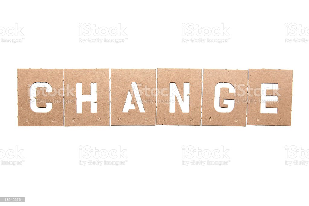Change Stencil Word royalty-free stock photo