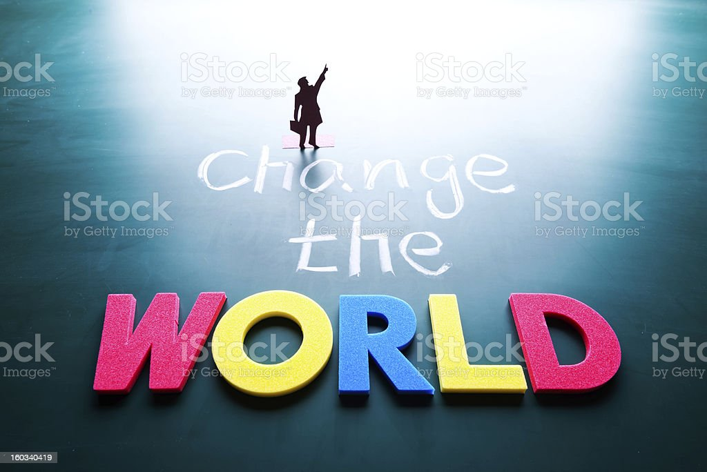 Change the world concept royalty-free stock photo