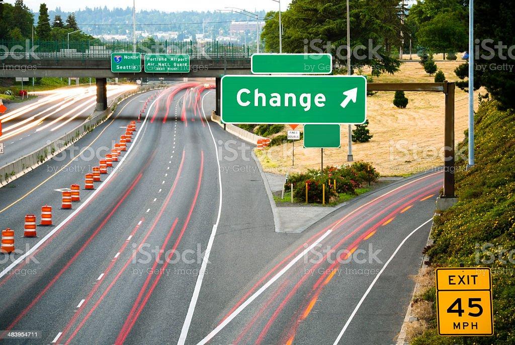 Change: This Way stock photo