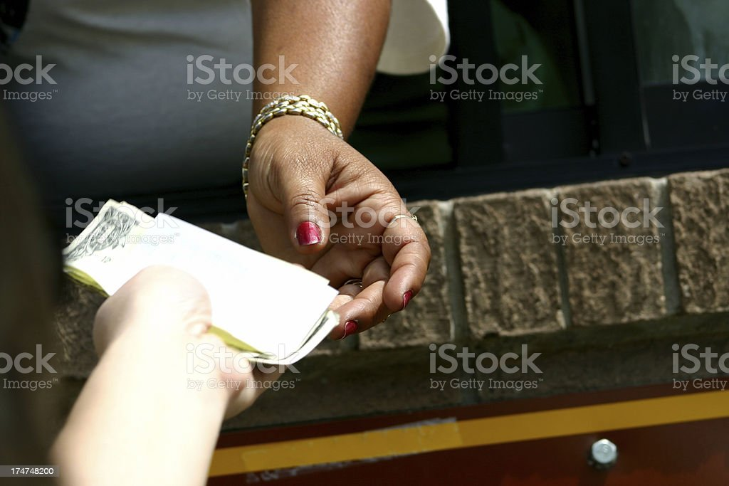Change with Receipt stock photo