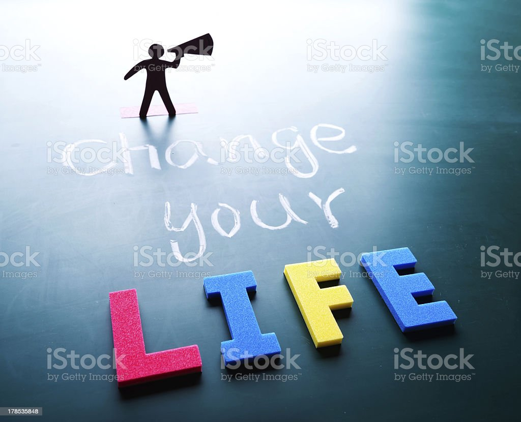 Change your life concept royalty-free stock photo