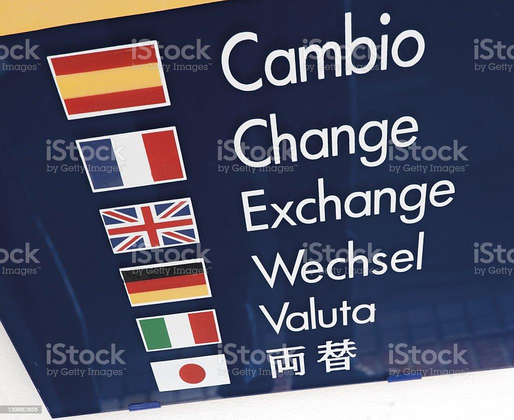Change your money stock photo