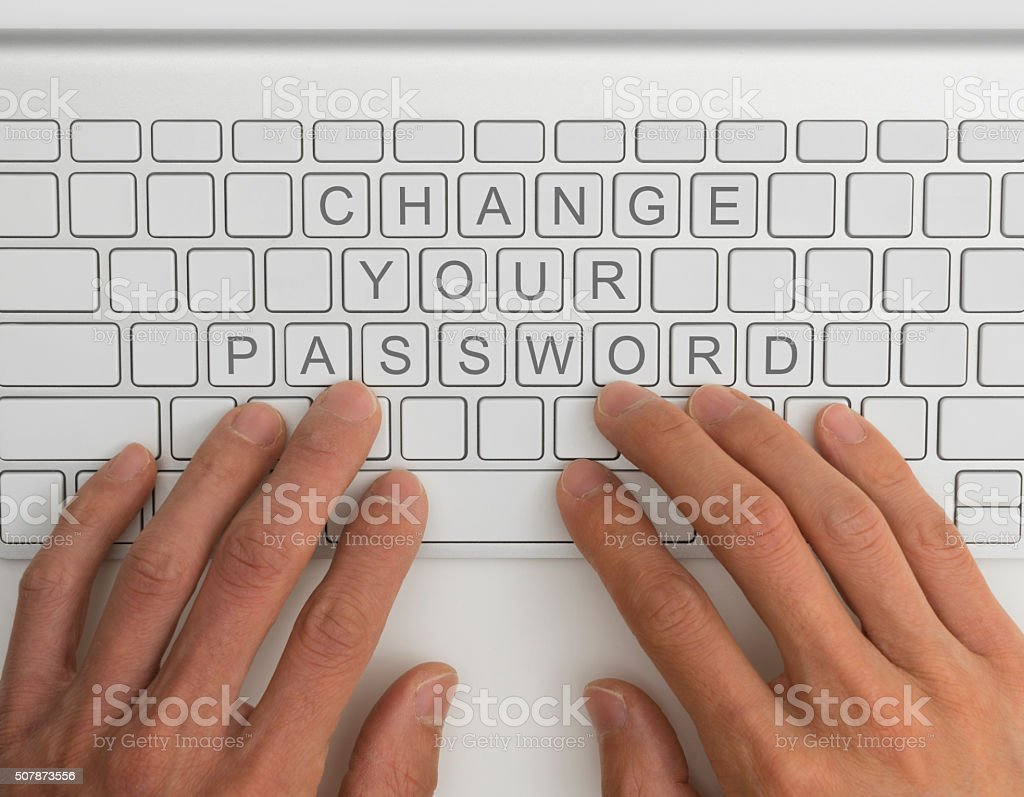 Change your password stock photo