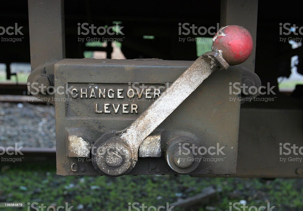 Changeover Lever stock photo