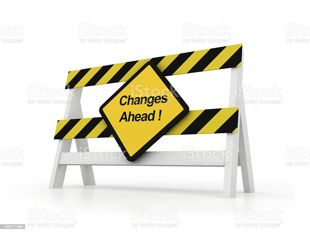 Changes Ahead royalty-free stock photo