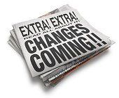 Changes Coming Newspaper Headline On White Background