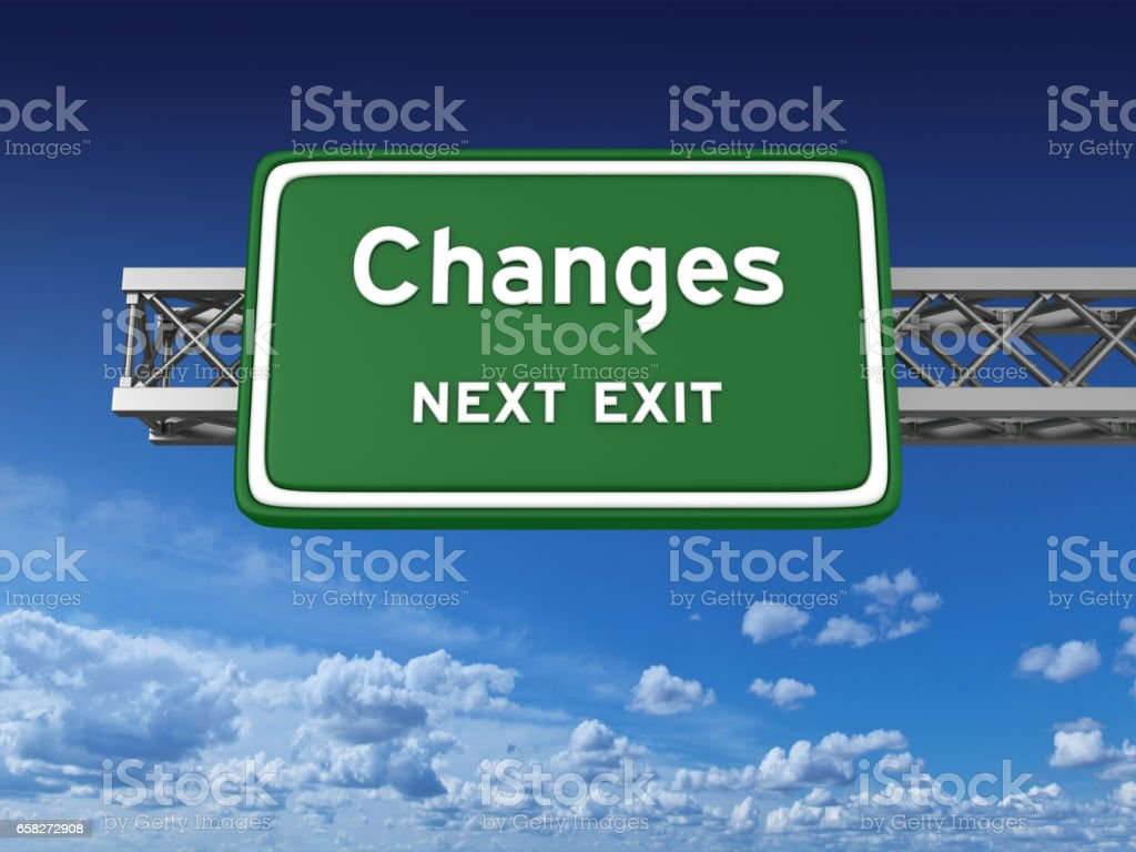 Changes Concept Highway Sign stock photo