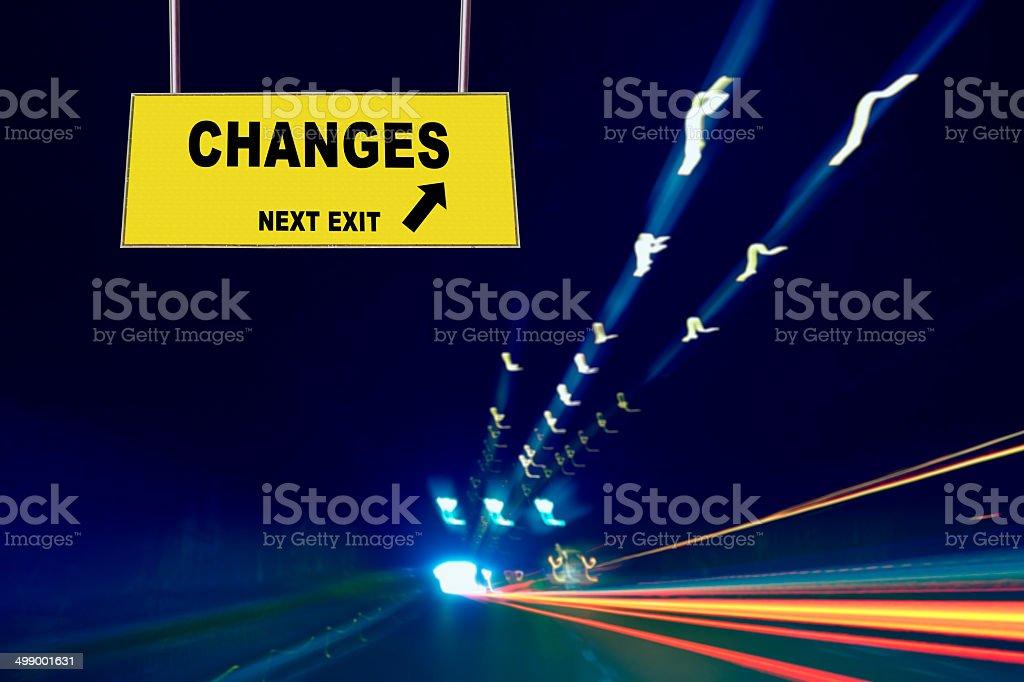 Changes Concept stock photo