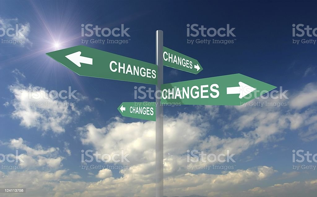 Changes Crossroad Sign royalty-free stock photo