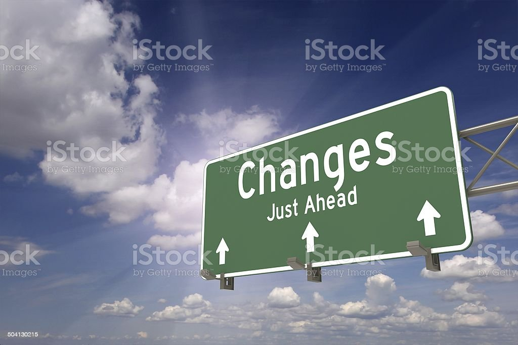 Changes stock photo