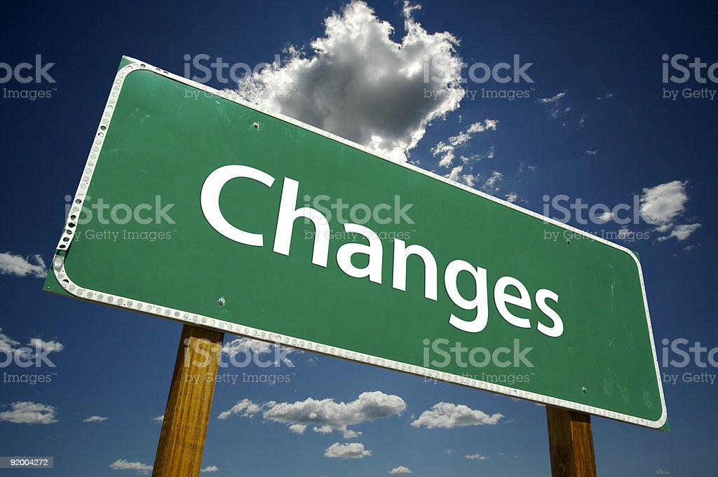 Changes Road Sign stock photo