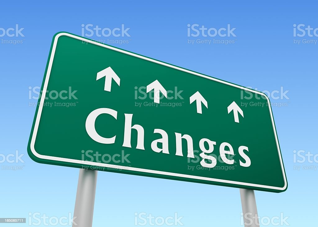 Changes Sign royalty-free stock photo