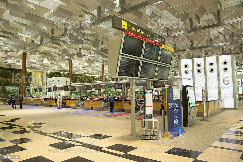 Changi Airport Check-In Row royalty-free stock photo