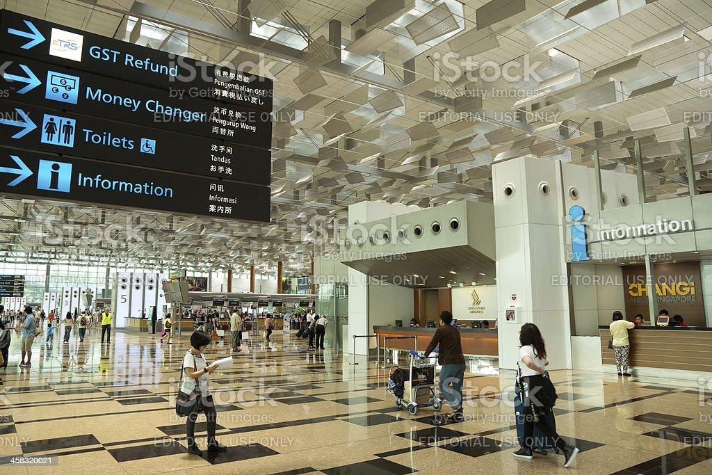 Changi Airport Terminal 3 royalty-free stock photo
