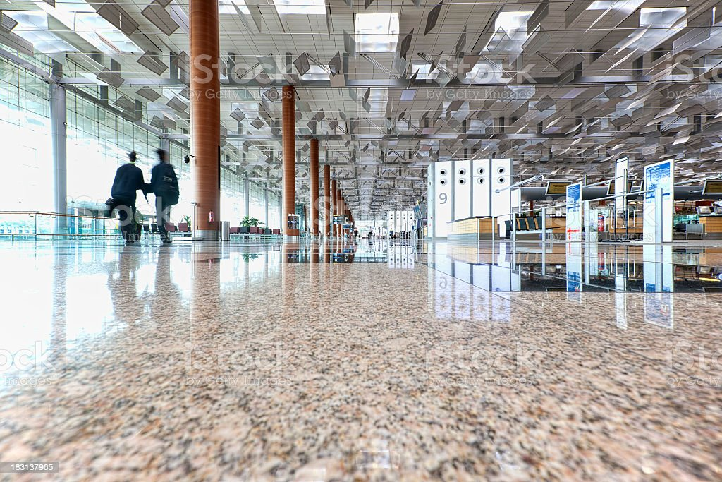 Changi Airport, Terminal 3, Singapore. stock photo