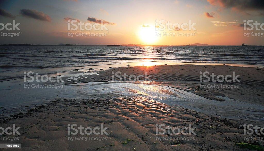 Changi beach sunrise royalty-free stock photo