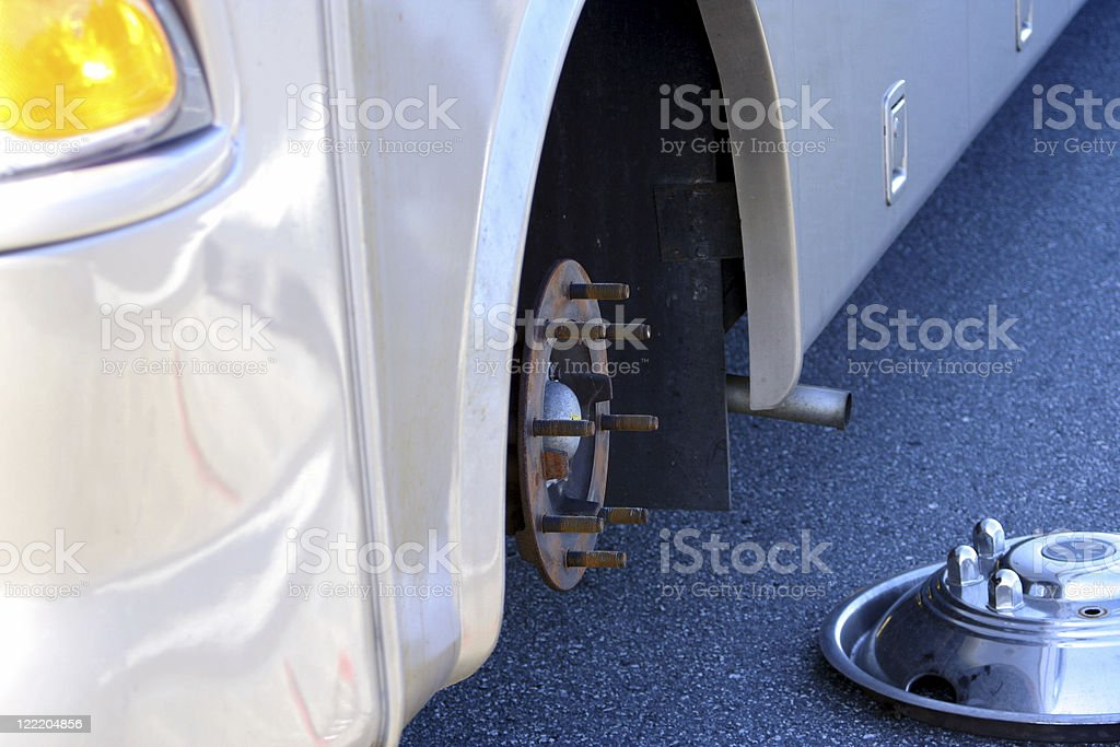 Changing an RV Tire royalty-free stock photo