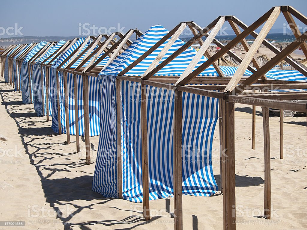 Changing Beach Cloth House royalty-free stock photo