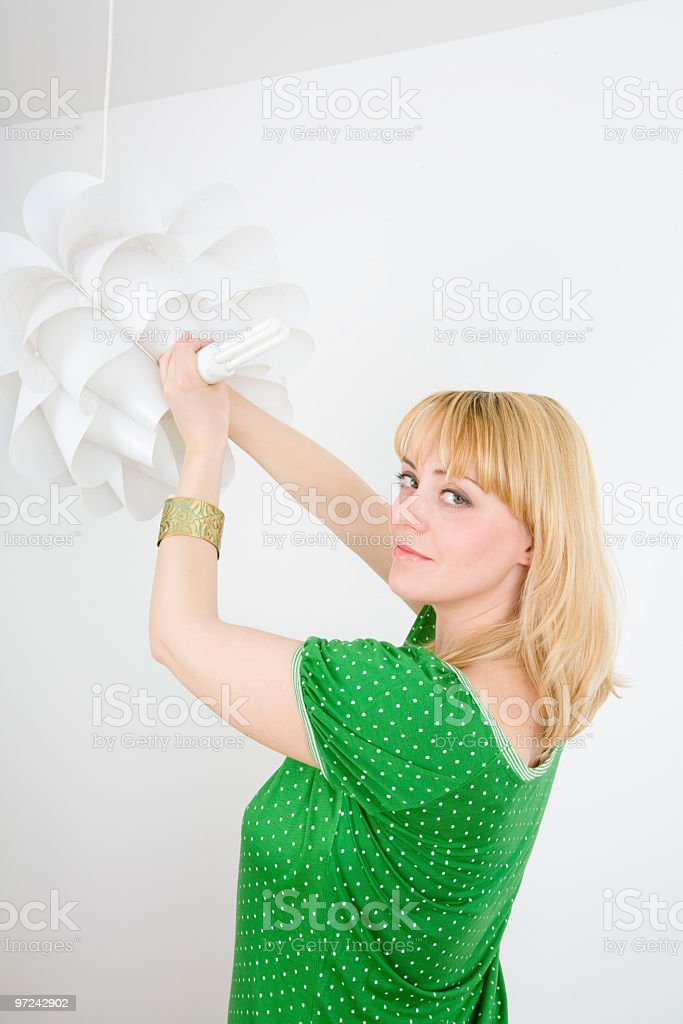 Changing buld royalty-free stock photo