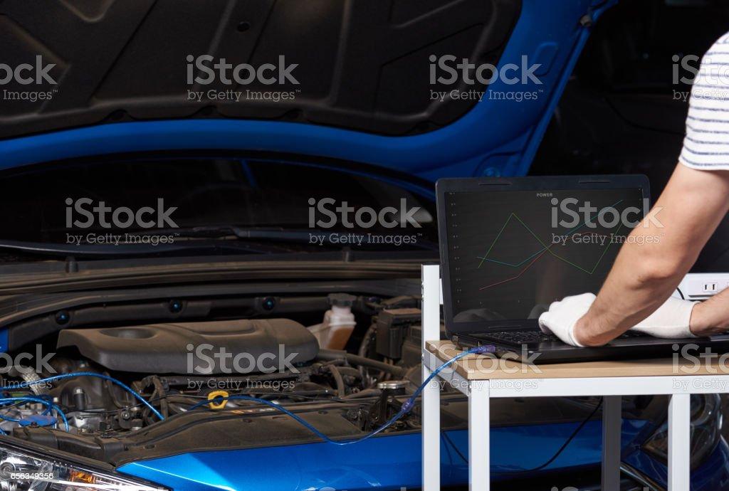 Changing car setting stock photo