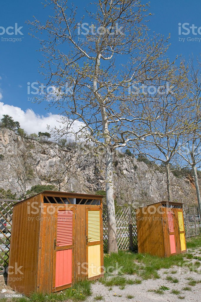 Changing Cubicles Adriatic Costline royalty-free stock photo
