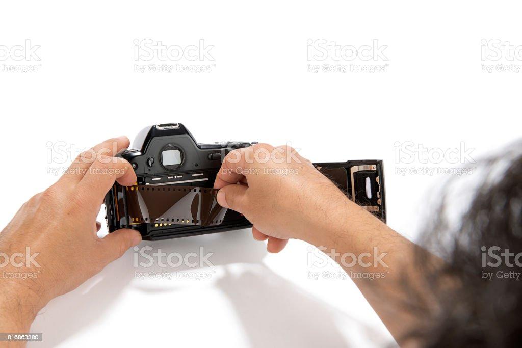 Changing Film stock photo