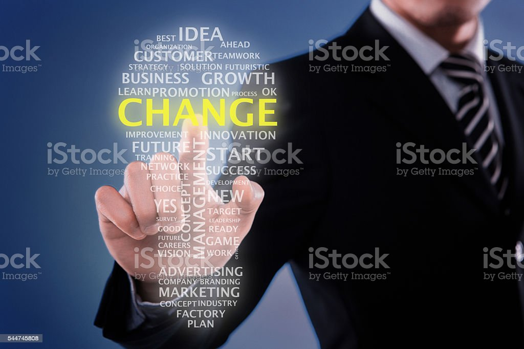 Changing for idea stock photo