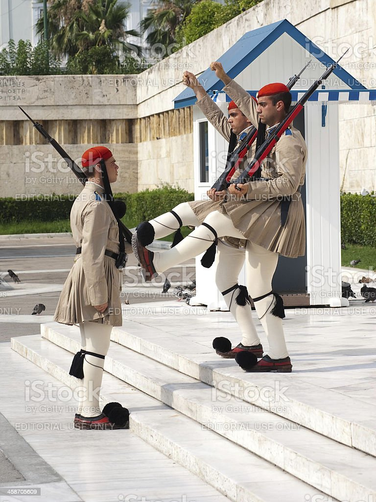 Changing Guard In Athens royalty-free stock photo