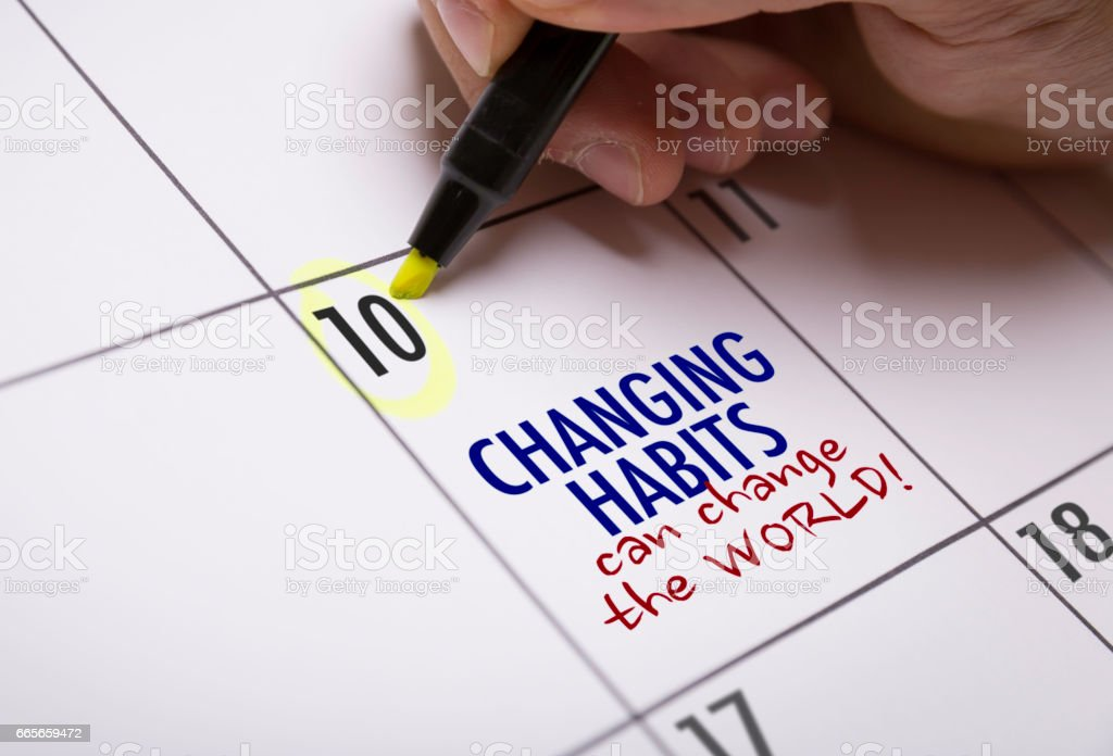 Changing Habits Can Change the World stock photo