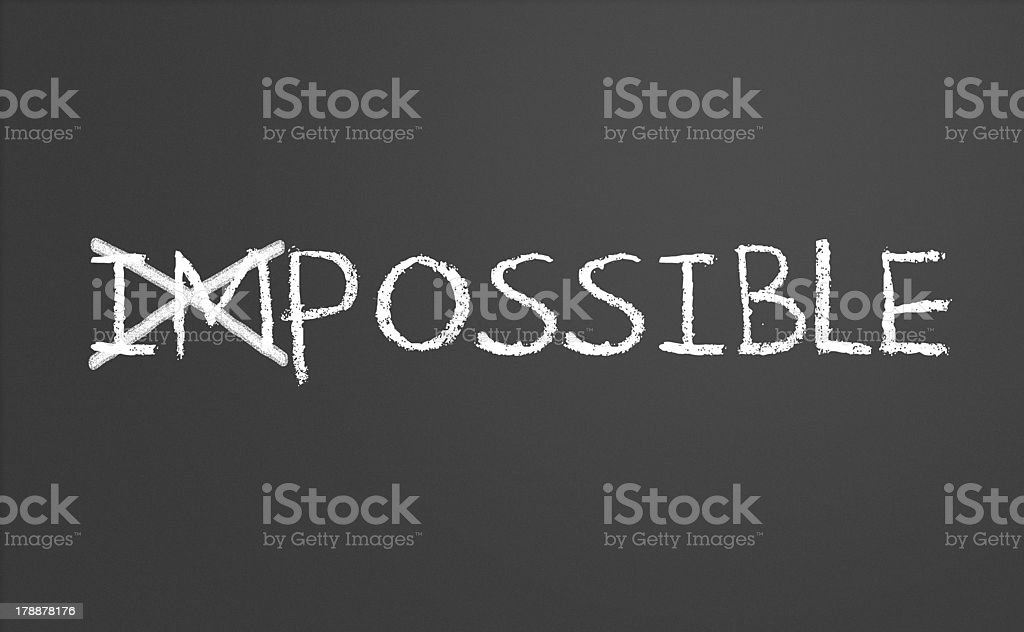 Changing impossible into possible stock photo