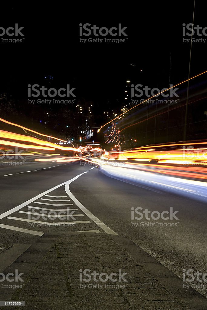 Changing lanes stock photo