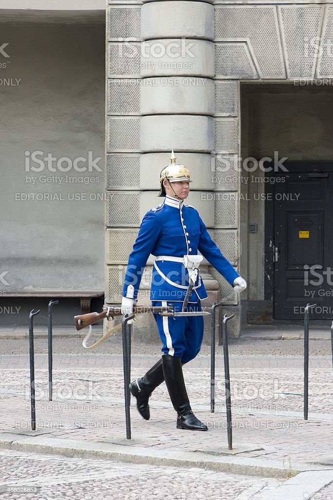 Changing of Guard, Royal Palace, Stockholm, Sweden royalty-free stock photo