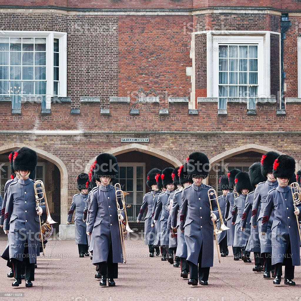 Changing Of The Guard At St James's Palace stock photo