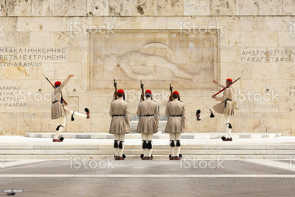 Changing of the Guard, Athens, Greece stock photo