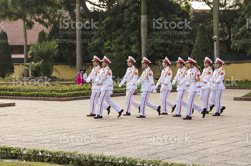 Changing of the Guard, Ho Chi Minh mausoleum, Hanoi royalty-free stock photo