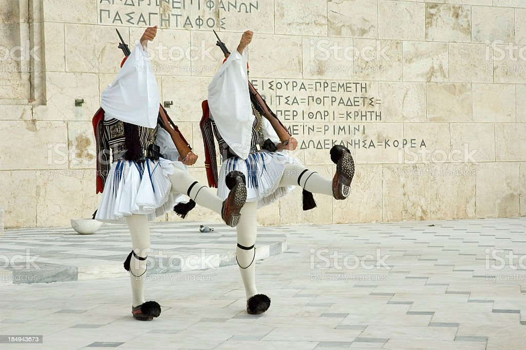 Changing of the Guard in Athens stock photo
