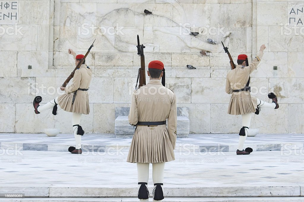 Changing of the Guard in Athens royalty-free stock photo