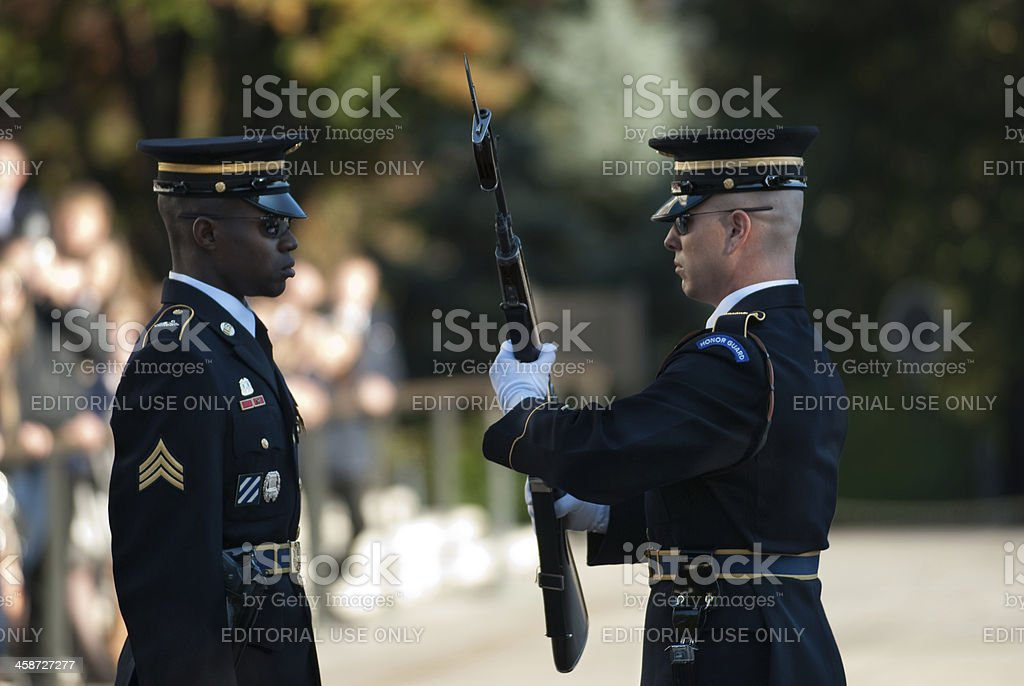 Changing of the Guard royalty-free stock photo