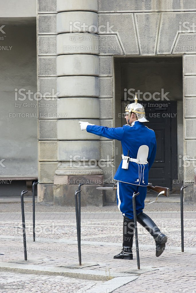 Changing of the Guard, Royal Palace, Stockholm, Sweden royalty-free stock photo
