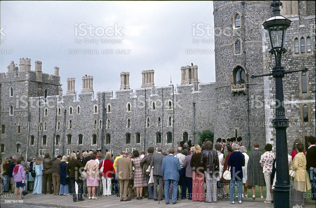 Changing of the Guard, Windsor Castle, England stock photo