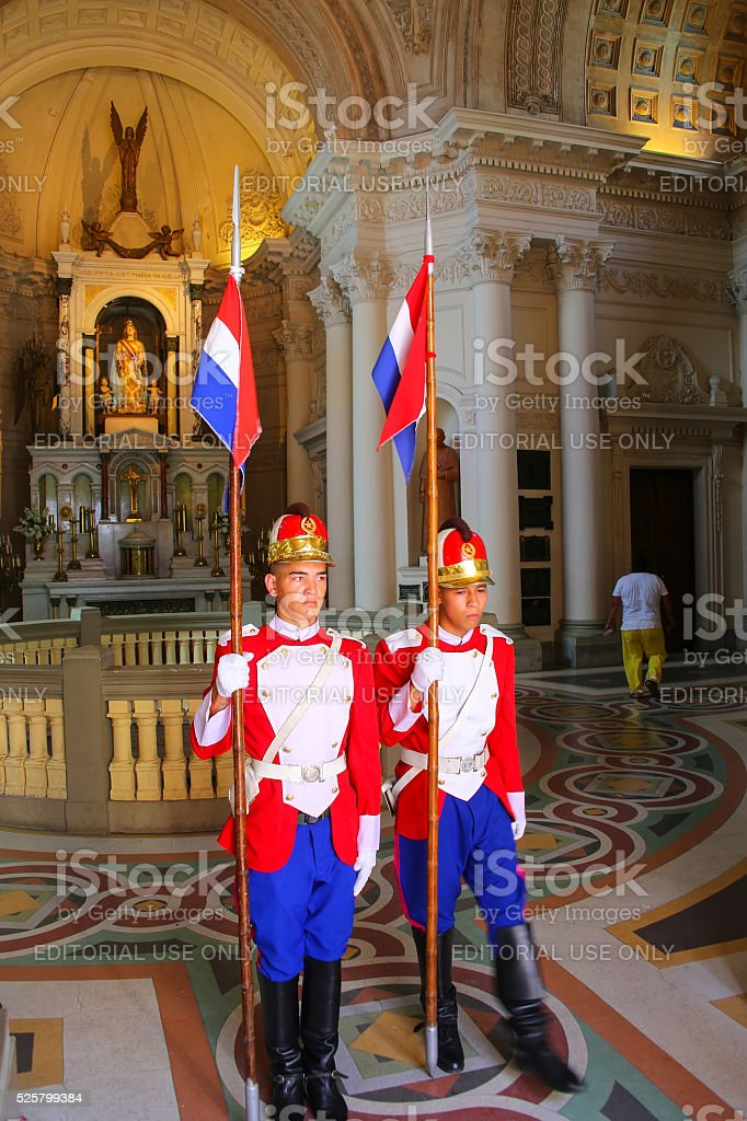 Changing of the Guards at National Pantheon stock photo