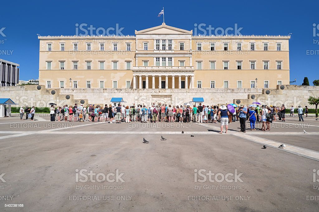Changing of the Guards, Athens stock photo