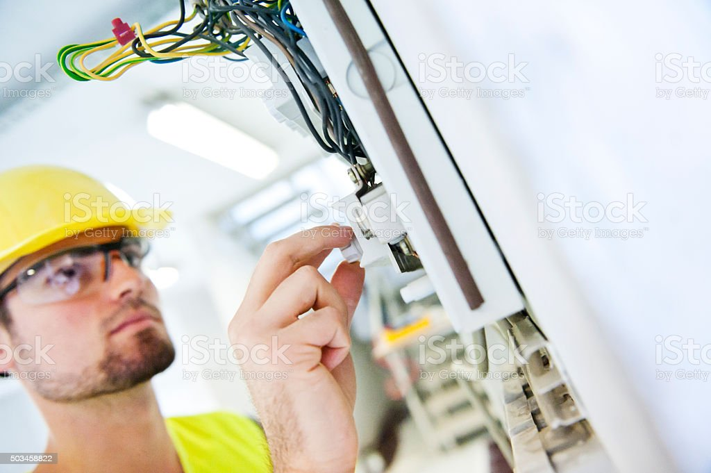 Changing old fuse stock photo